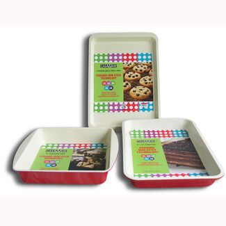 CasaWare 3 Piece Bake Set with Square Pan